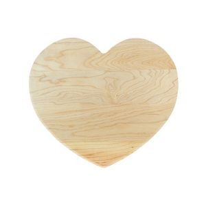 Novelty Heart Shaped Maple Cutting Board