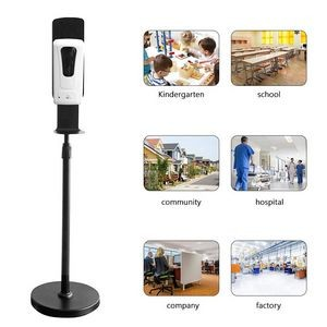 Black Hand Sanitizer Dispenser Stainless Steel Floor Stand
