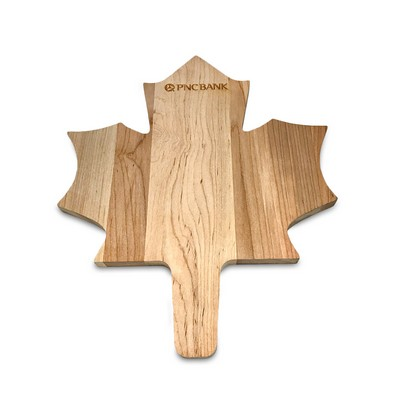 Maple Leaf Shaped Wood Cutting Board