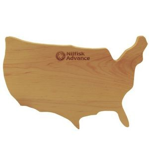 USA Shaped Wood Cutting Board