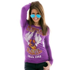 Women's Vintage Long Sleeve Thermal Shirt